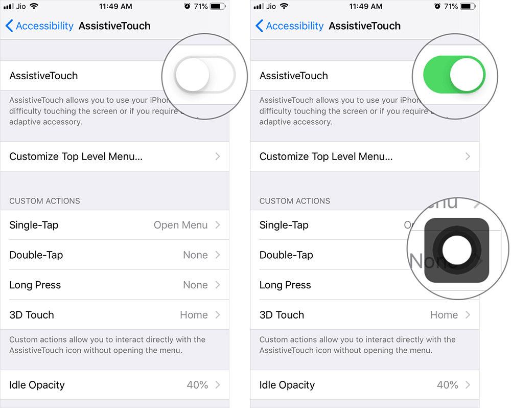 Enable AssistiveTouch on iPhone or iPad in iOS 12