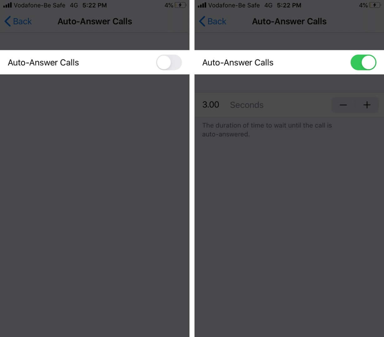 Enable Auto-Answer Calls on iPhone