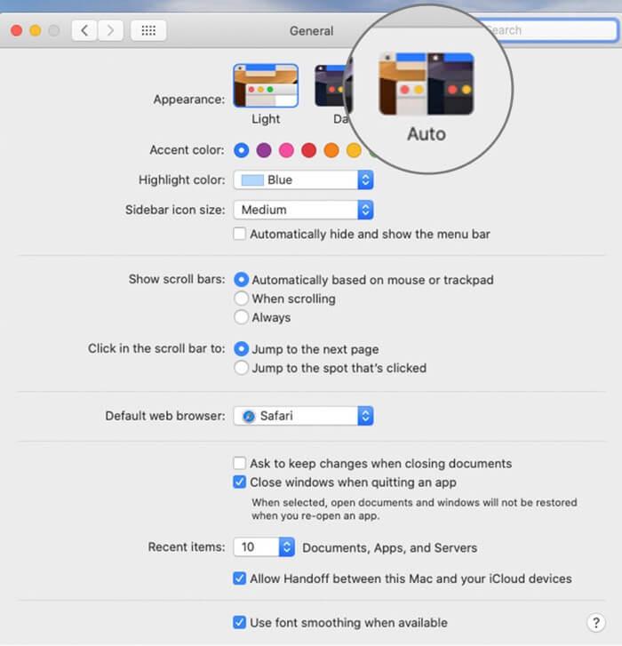 Enable Auto Dark Mode on Mac