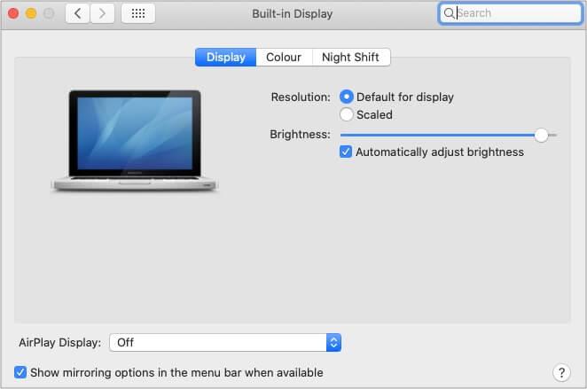 Enable Automatically adjust brightness on M1-based MacBooks