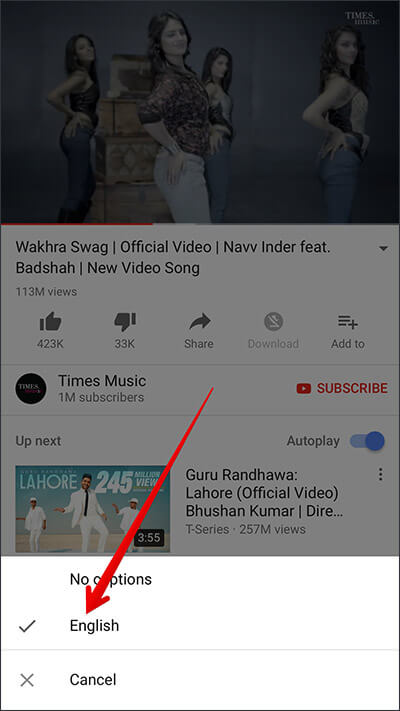 Enable Caption in YouTube on iPhone, iPad, and Android