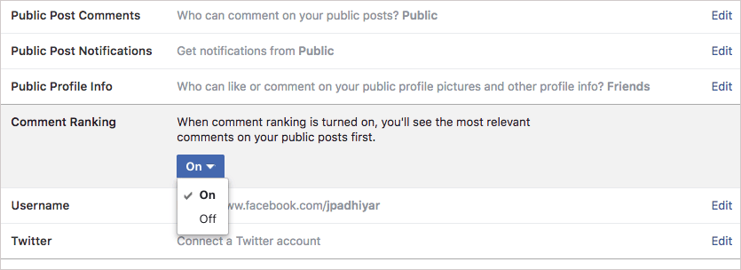 Enable Comment Ranking for Facebook Posts on the Web