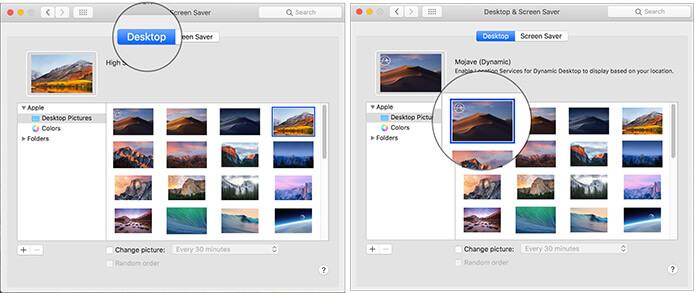 Enable Dynamic Desktop in macOS Mojave on Mac