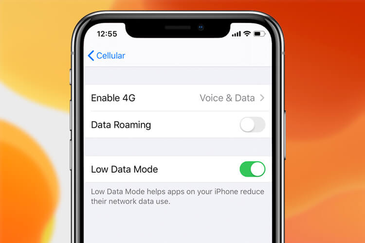 Enable Low Data Mode in iOS 13
