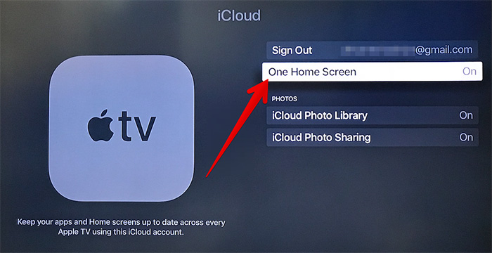 Enable One Home Screen on All Apple TV