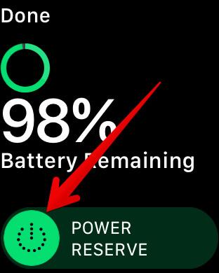 Enable Power Reserve Mode in watchOS 4 on Apple Watch