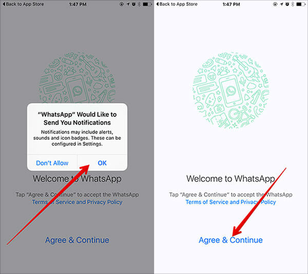 Enable Push Notifications in WhatsApp on iPhone