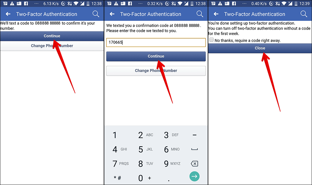Enable Two-factor Authentication on Android Phone
