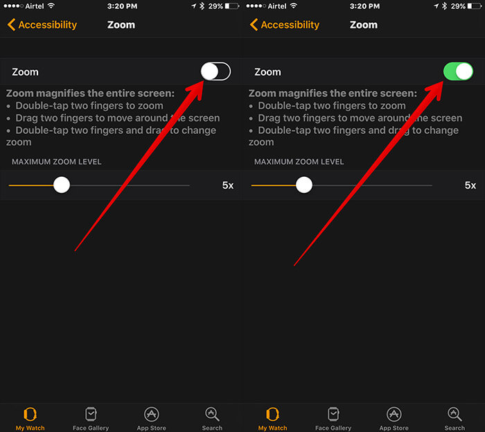 Enable Zoom on Apple Watch Using iPhone