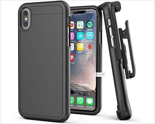 Encased iPhone X Belt Clip Case SlimShield Series
