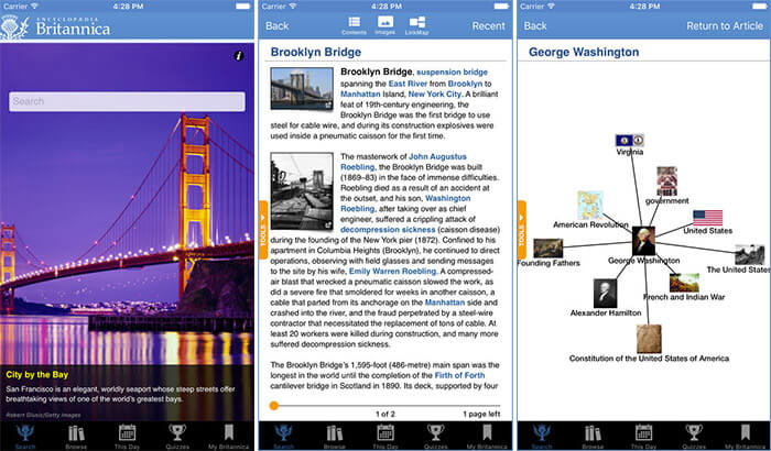 Encyclopaedia Britannica iPhone and iPad App Screenshot