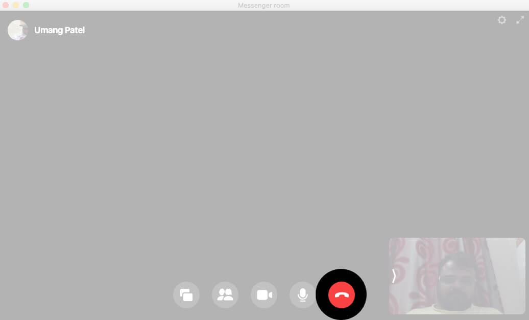 End Video Call in Facebook Messenger Room on Mac