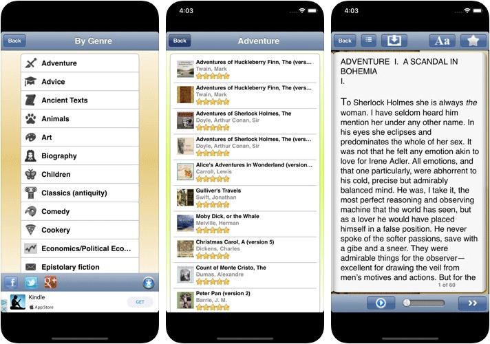 English Audio Books Librivox iPhone and iPad App Screenshot