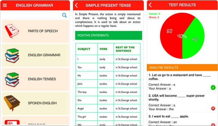 English Grammar Book iPhone and iPad App Screenshot