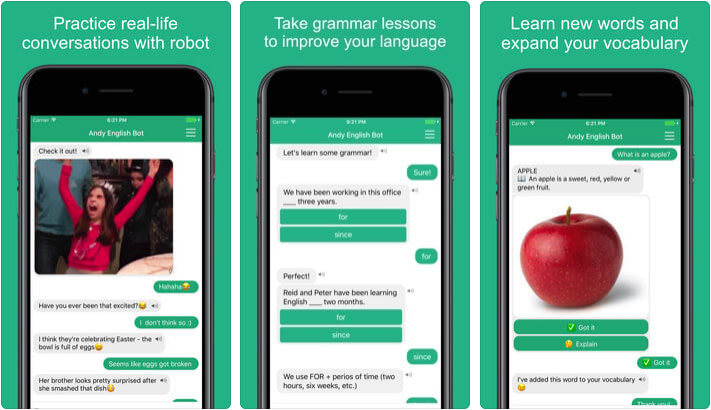 English with Andy iPhone and iPad Educational App Screenshot