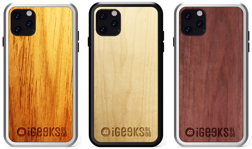 Engraved Alloy-Wooden Cases for iPhone 11 Series