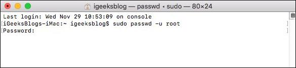 Enter Mac System Password using Terminal