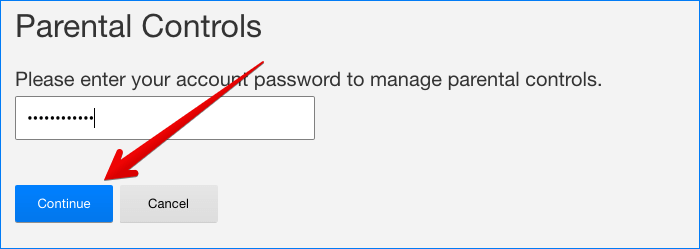 Enter Netflix Account Password on Mac or Windows PC