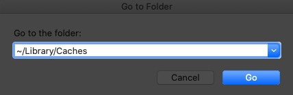 Enter Path and Click on Go in macOS