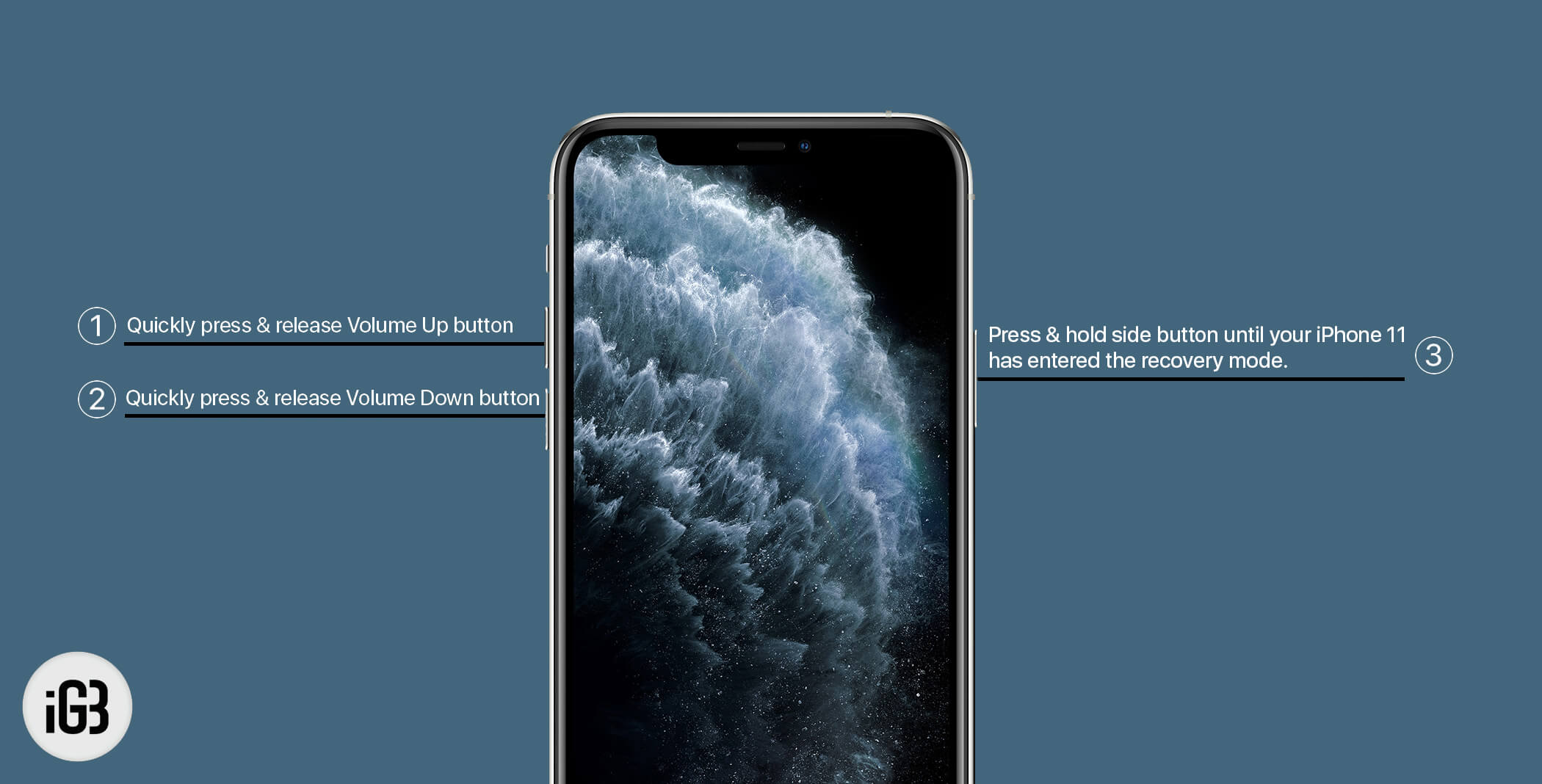 Enter Recovery Mode on iPhone 11 Pro Max, 11 Pro, and iPhone 11