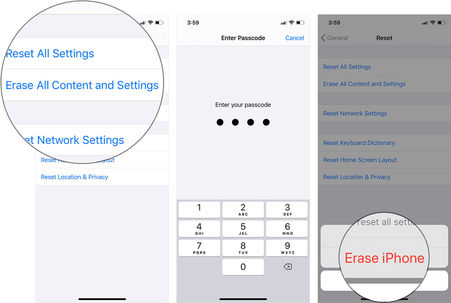 Erase All Content and Settings on iPhone or iPad