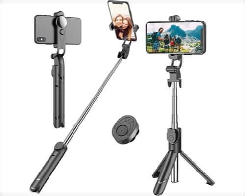 Erligpowht Extendable Selfie Stick Tripod for iPhone