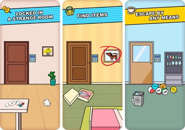Escape Room iPhone Game Screenshot
