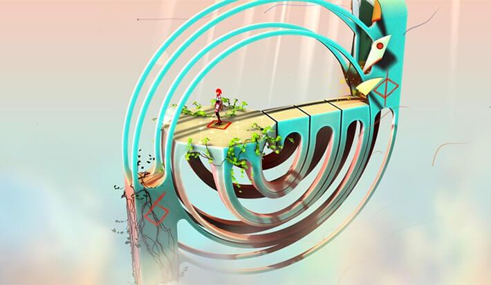 Euclidean Skies iPhone and iPad AR Puzzle Game Screenshot