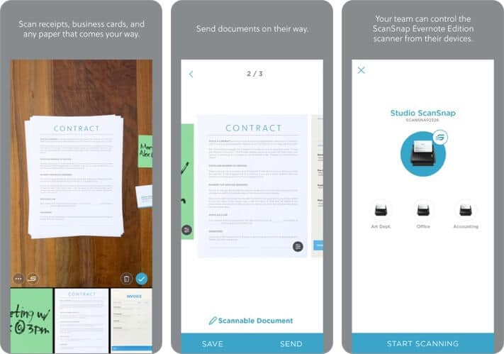 Evernote Scannable Document Scanner iPhone and iPad App Screenshot