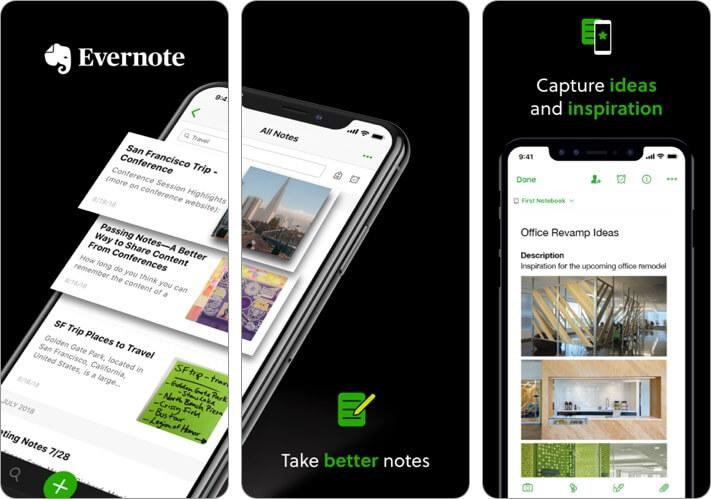 Evernote Video Recording iPhone App Screenshot