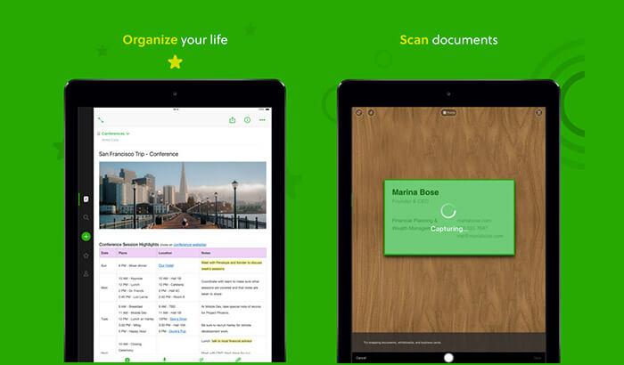 Evernote iPad Note Taking App Screenshot