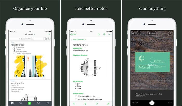 Evernote iPhone and iPad App Screenshot