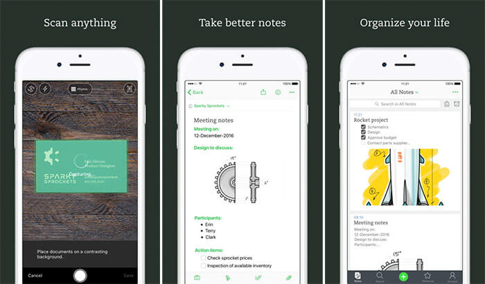 Evernote iPhone and iPad Note Taking App Screenshot