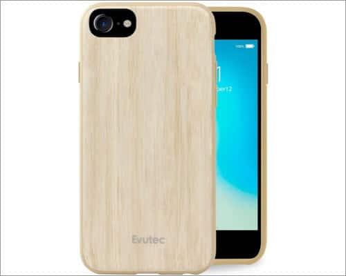 Evutec Slim Wooden Case for iPhone SE 2020