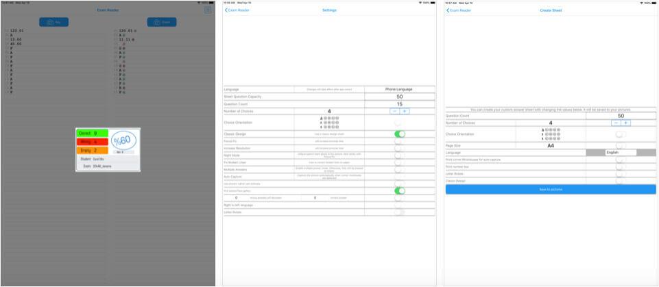 Exam Reader iPhone and iPad Assessments App Screenshot