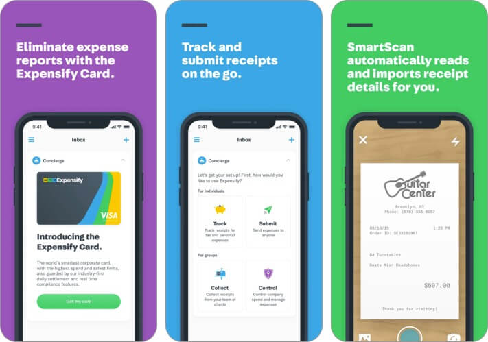 Expensify Expense Tracker iPhone and iPad App Screenshot