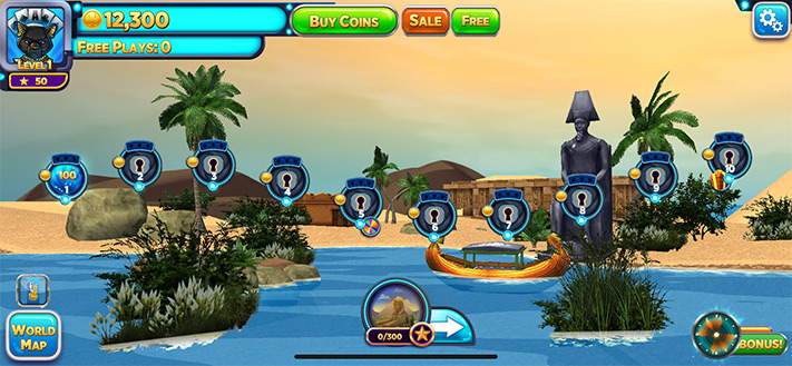 Explore Different Worlds While Playing Solitaire Time Warp Game