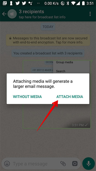 Export Android Chat with Media from Android Phone