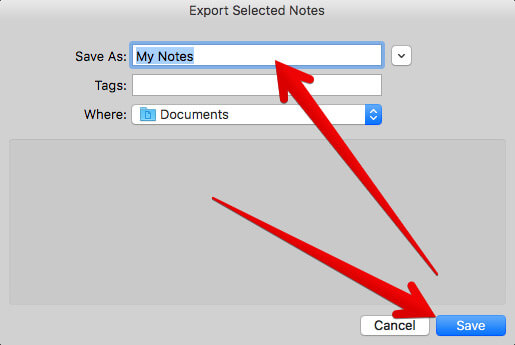 Export Evernote Notes to Mac