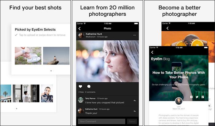 EyeEm iPhone and iPad App Screenshot