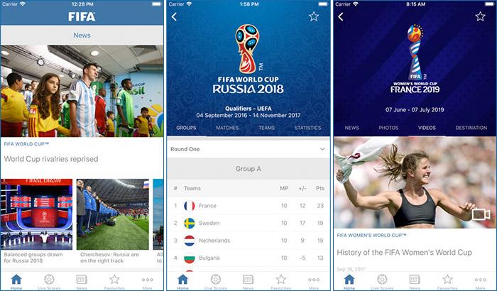 FIFA Official iPhone and iPad App Screenshot