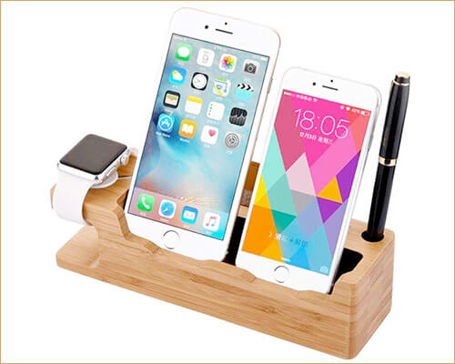 FILIWI Wooden Docking Station for iPhone 5-5s, and iPhone SE