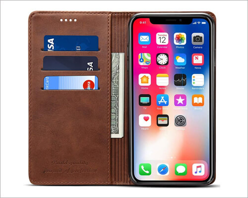 FLY HAWK Kickstand Folio Case for iPhone 11 Pro