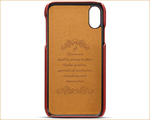 FLY HAWK Leather Case for iPhone Xs Max