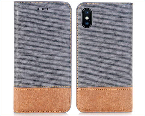 FLYEE iPhone Xs Max Leather Case