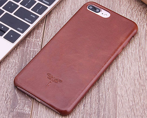 FRIFUN Leather Case for iPhone 8 Plus