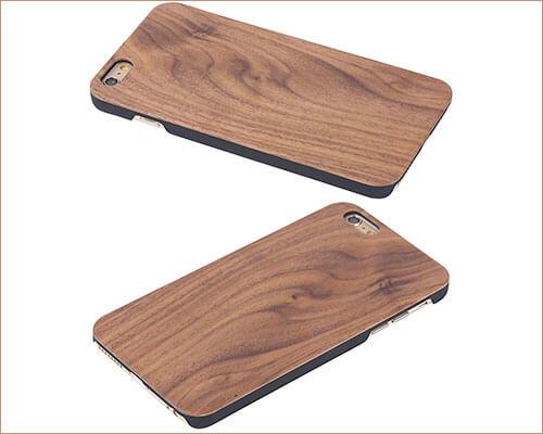 FXYRAIN Wooden Case for iPhone 6-6s Plus