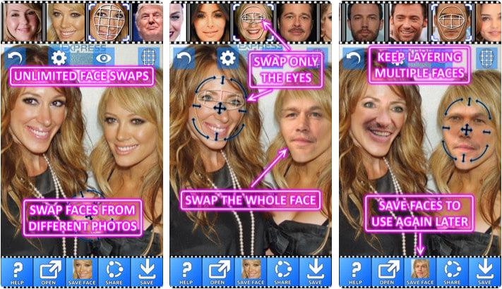 Face Swap Booth iPhone and iPad App Screenshot