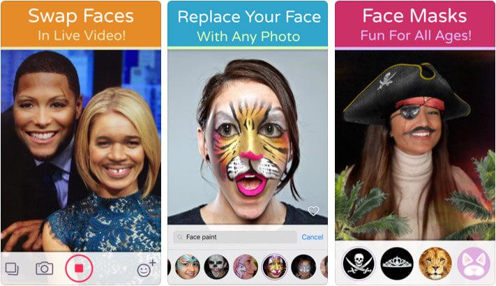 Face Swap Live Lite iPhone and iPad App Screenshot