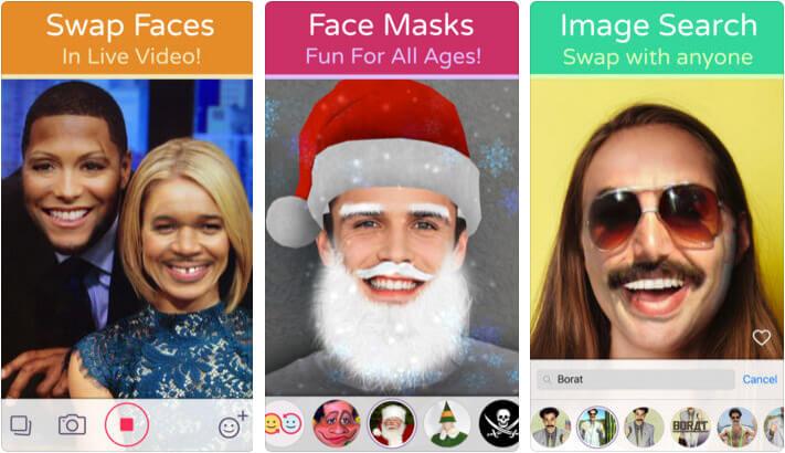Face Swap Live iPhone and iPad App Screenshot